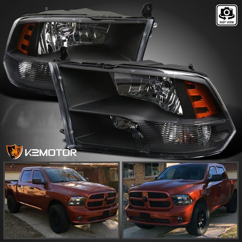 For Black 20092018 Dodge Ram 1500 2500 3500 Quad