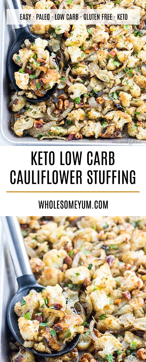 Keto Low Carb Cauliflower Stuffing