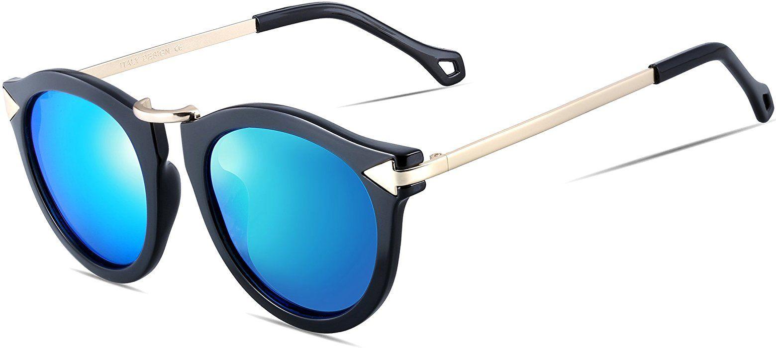 ATTCL Damen Vintage Mode polarisiert Sonnenbrille Damen 11189 Brown IJp3cN0f3
