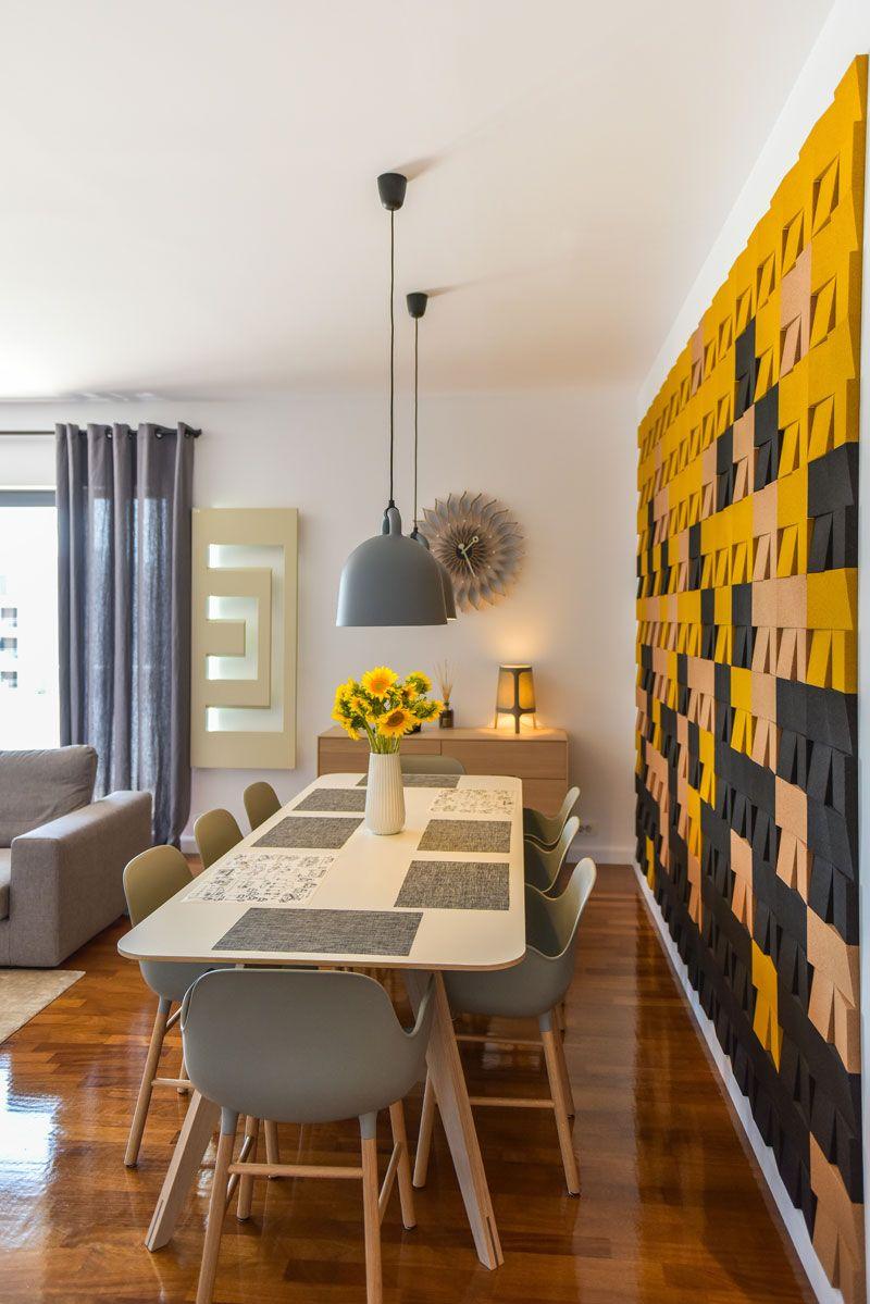 רומנית בסטייל סקנדינבי דירה שופעת צבע בבוקרשט Cork Design