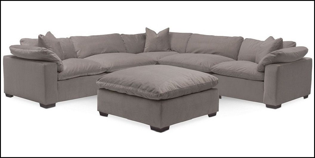 Plush 6 Piece Sectional By Kroehler At Value City Furniture Value City Furniture Fabric Sectional Couch Modern Sofa Sectional