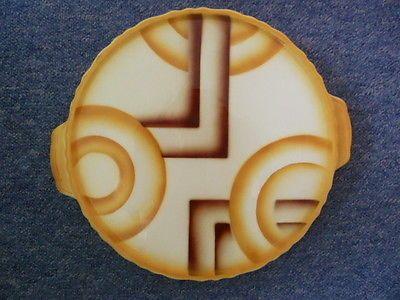 Design Kuchenplatte 20 30er Jahre Bauhaus Spritzdekor Tortenplatte Art Deco Ebay Decorative Cake Plates Art Deco Ceramic Tray