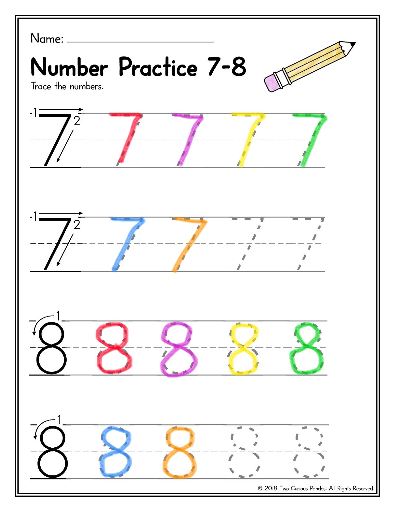Number Writing Practice Numbers 0 10