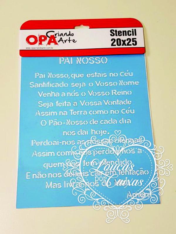 STENCIL ORAÇÃO PAI NOSSO - 20 X 25