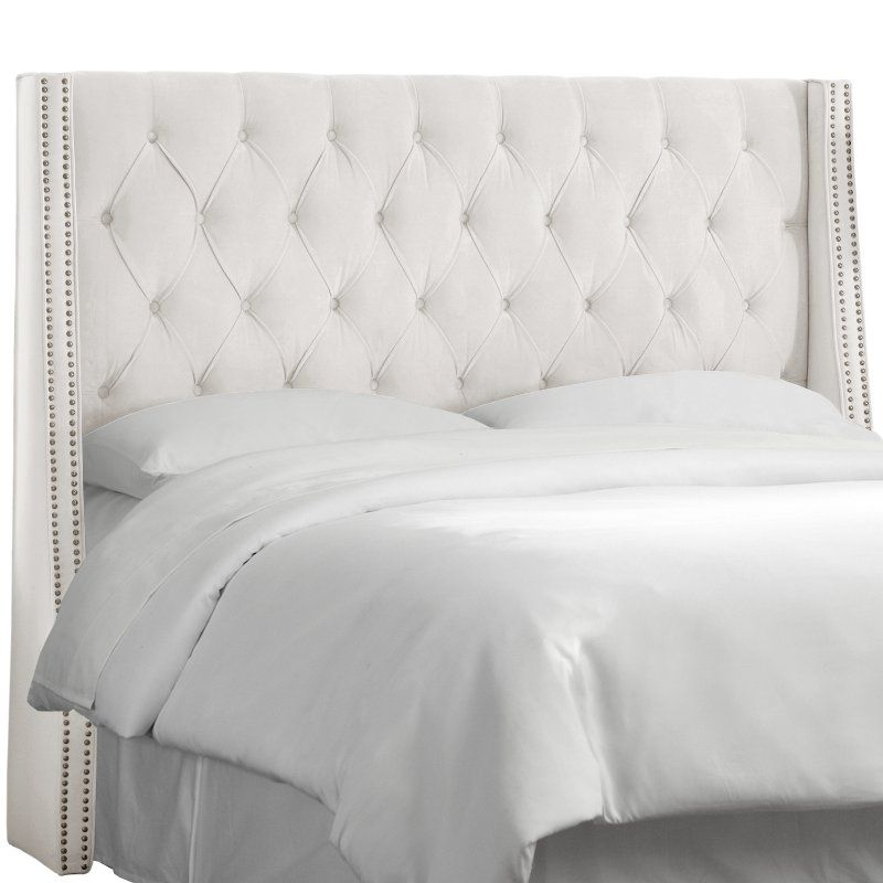 White Tufted Wingback California King Upholstered Headboard Tufted Wingback Headboard Upholstered Headboard King Wingback Headboard