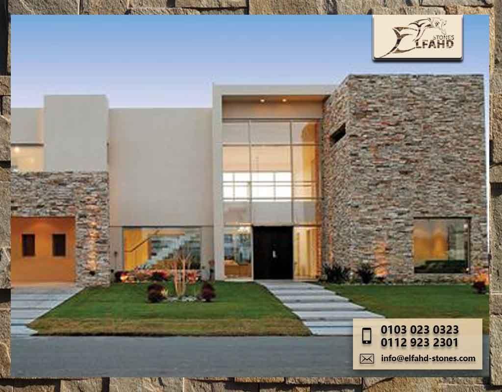 تصميم حجر واجهات House Styles House Design Architecture