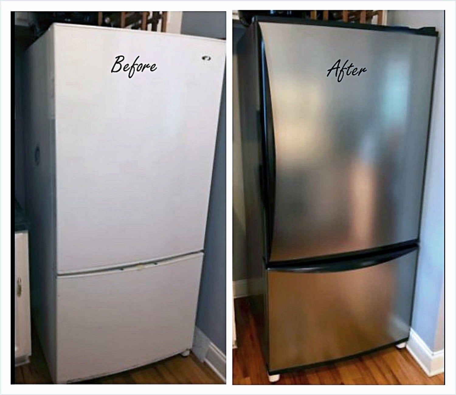 Instant Update Peel And Stick Stainless Steel Nickel Finish Etsy In 2020 Stainless Steel Contact Paper Stainless Steel Panels Fridge Makeover
