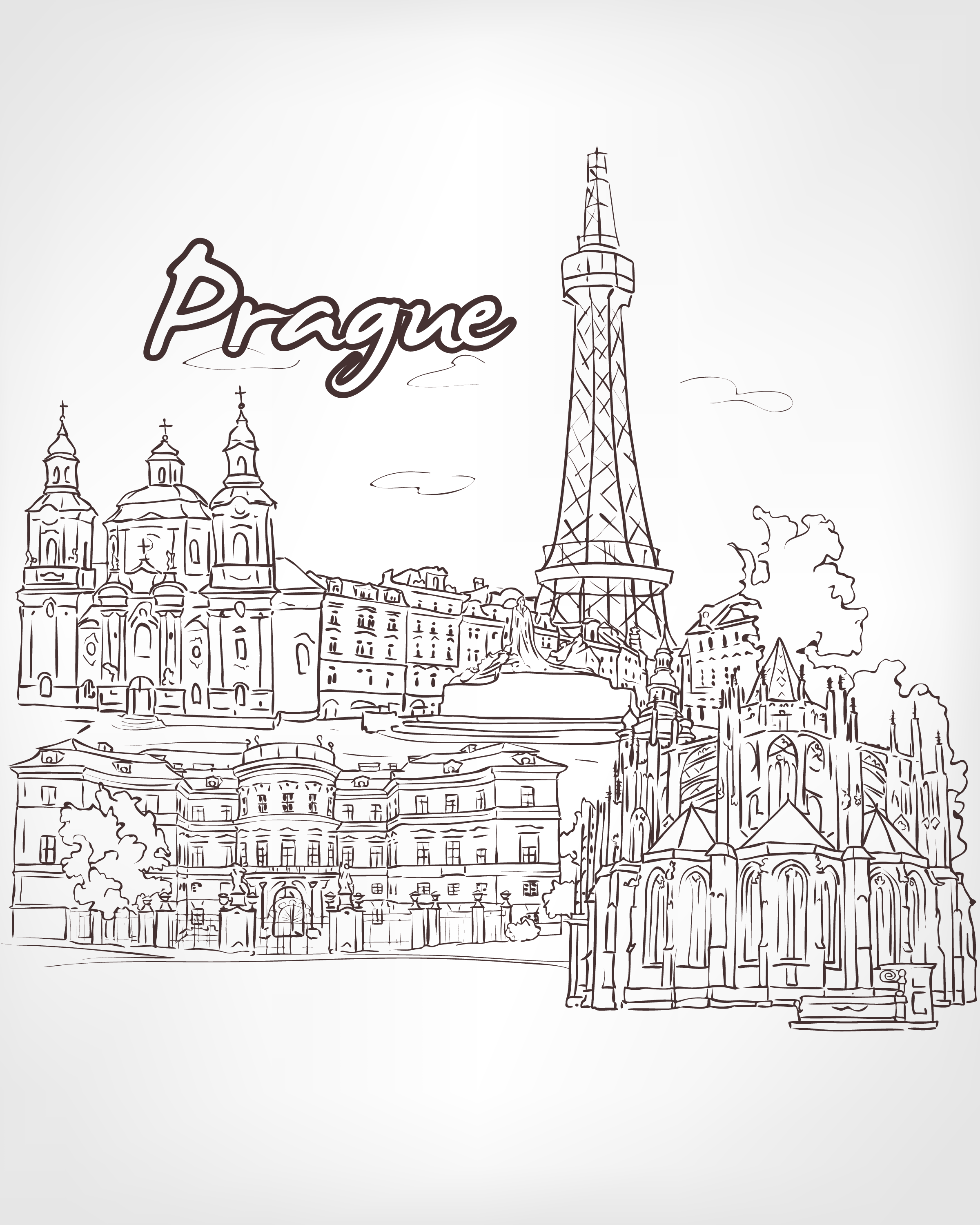 Amazing Cities Adult Coloring Pages City scapes Around The