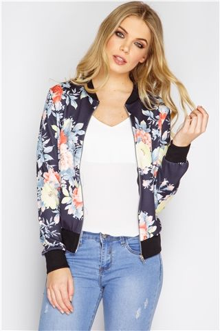 ad4e519d5fa5 Harper Black Floral Bomber Jacket -- thought I wouldn t like it but ...