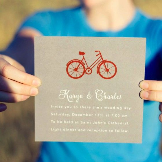 Bicycle Wedding Invitation Wedding Bikes and By