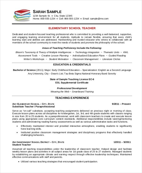 Teacher Resume Templates Pinterest Sample resume, Resume and