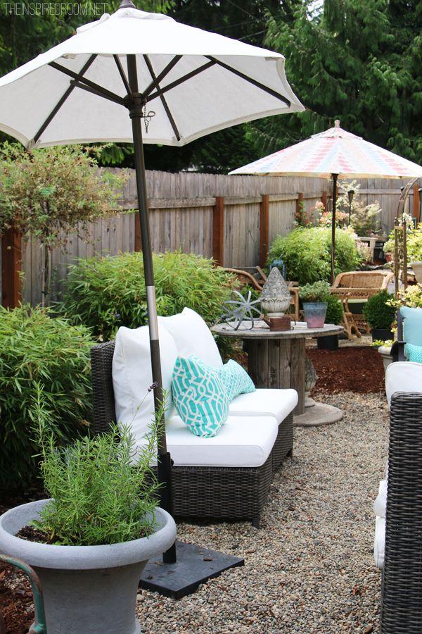 The Inspired Room Backyard Design - Conversation Area