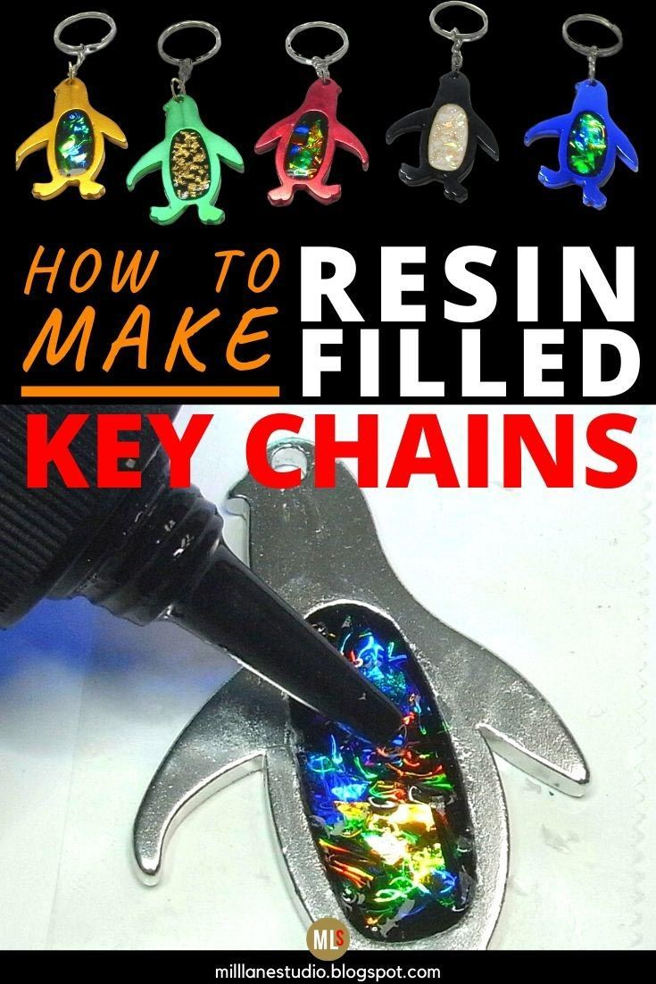 Fun diy project make a uv resin and mylar keychain in