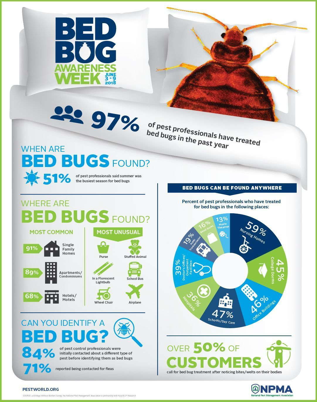 Pest Control Professionals See Summer Spike in Bed Bug