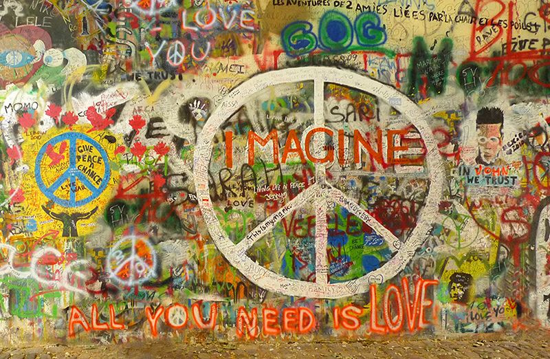 John Lennon Imagine Peace All You Need Is Love Love Graffiti Peace Sign Art Graffiti Art
