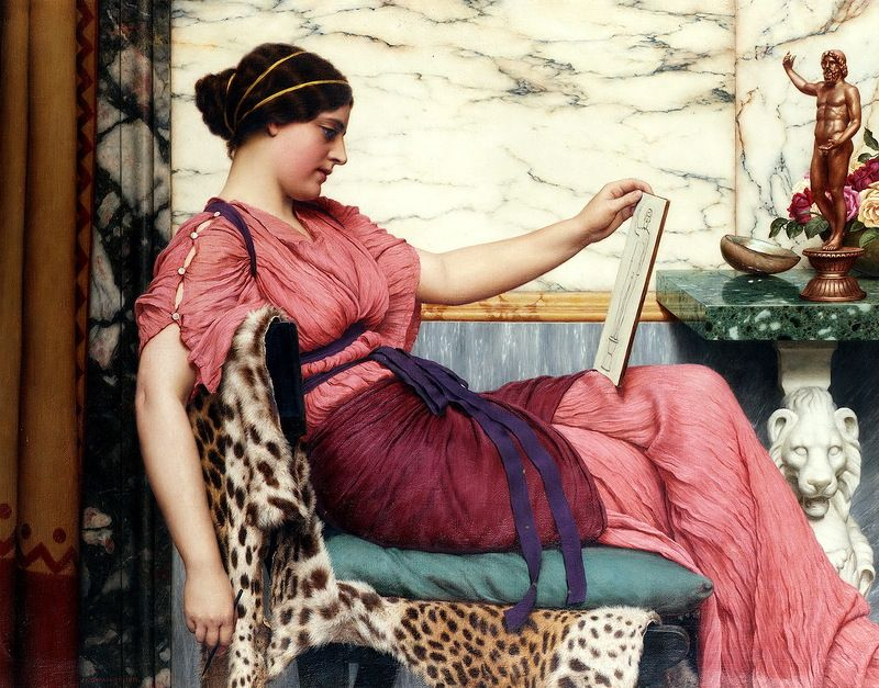 John William Godward (British, 1861-1922) - An Amateur, 1915