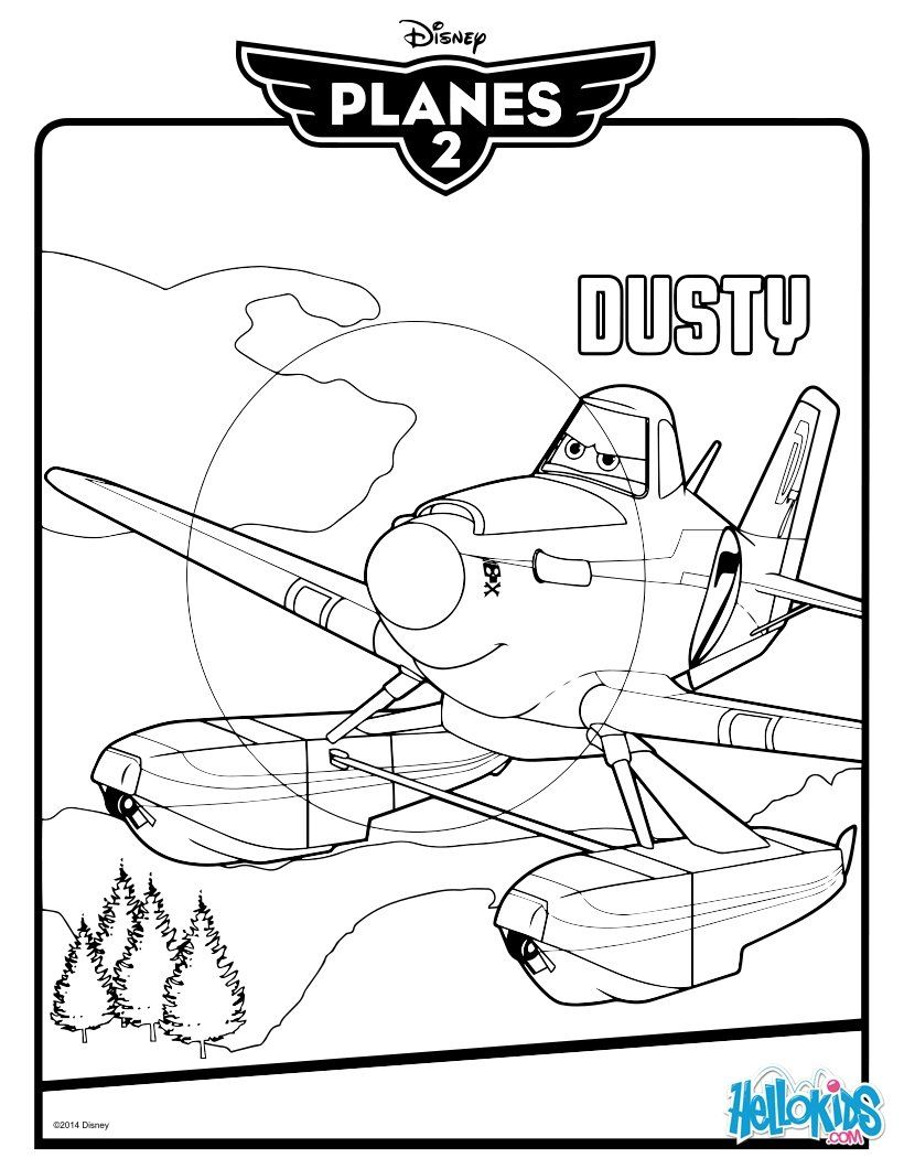 Dusty Crophopper Coloring Page Our Kids Pinterest Disney