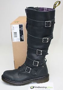 1fae844d32b Womens Dr Martens Phoenix Phina Black Leather Tall Biker Rider Boots US 9  EU 41 - Would love these for riding!