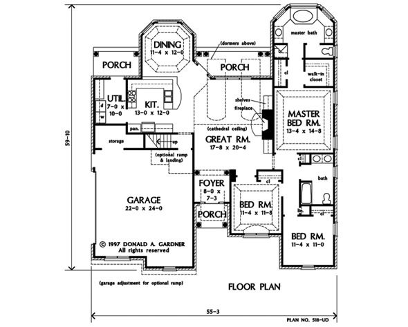 Non Split Bedroom Floor Plan Fix Kitchen To Make Island Expand