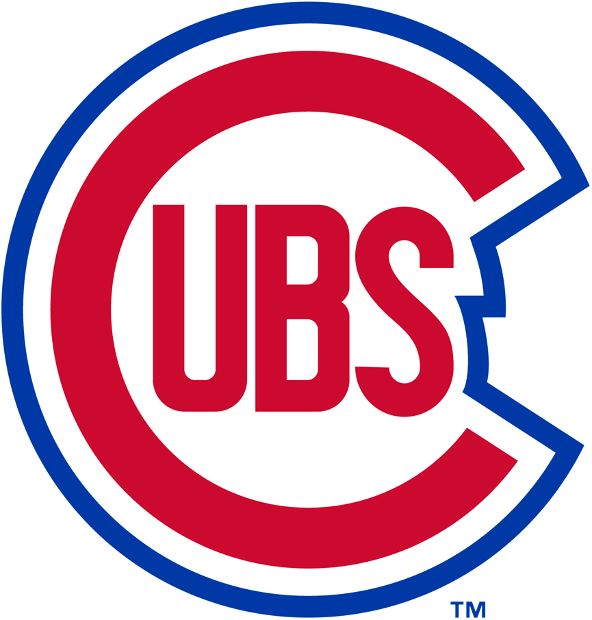 Chicago Cubs Primary Logo 1948 A Red C With Ubs Inside It In Red Blue And White Trim Surrounding It Chicago Cubs Chicago Cubs Tattoo Mlb Team Logos