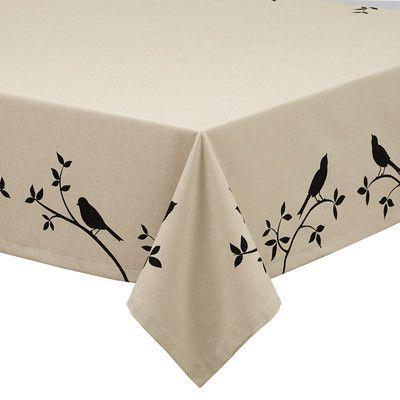 Design Imports Bird Burlap Printed Tablecloth Wayfair Printing