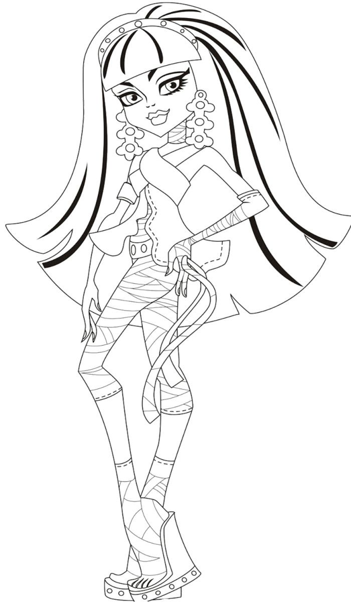 Printable Monster High Cleo De Nile Coloring For Kids Monster High Coloring Pages Kidsdr Monster Coloring Pages Coloring Pages Monster Truck Coloring Pages
