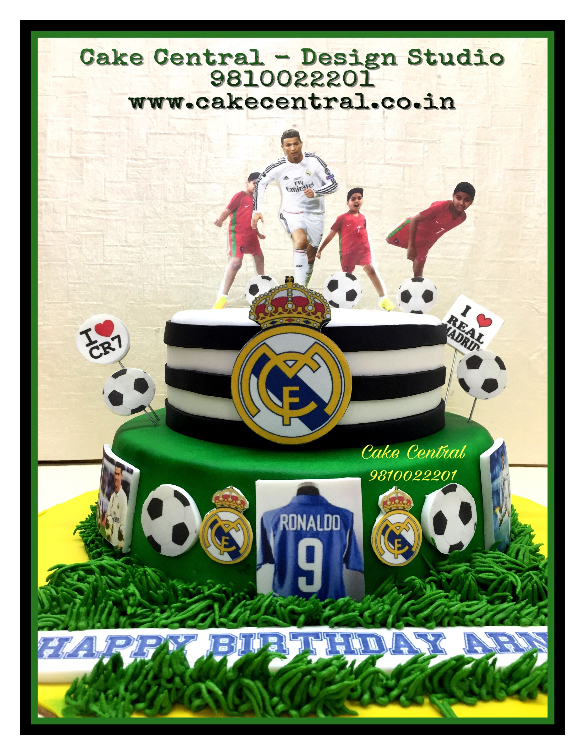 Football Cake Ronaldo Real Madrid Birthday By Central