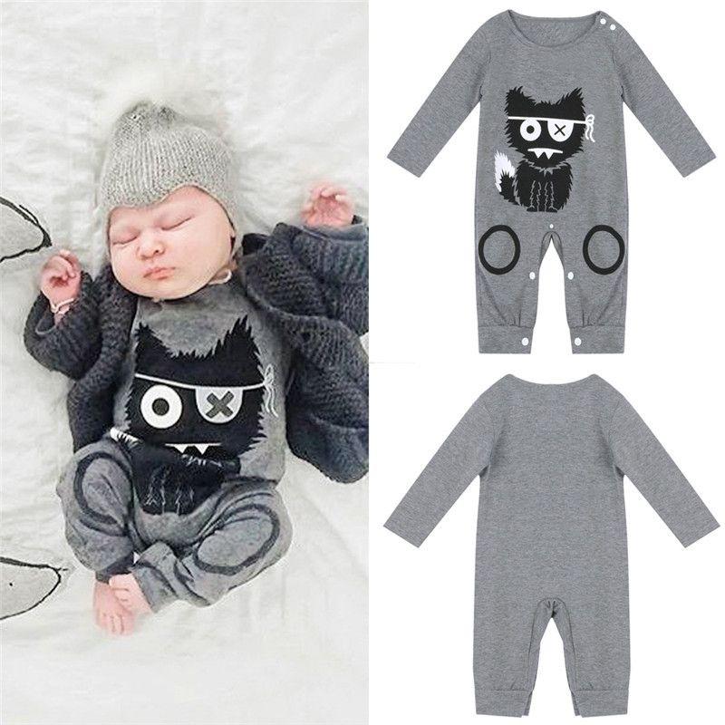 aa2f3ff7e435 Cartoon Newborn Boy Rompers Newborn baby boy clothes