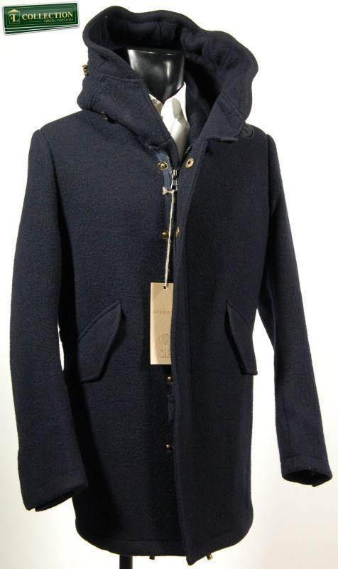 separation shoes 707af 8497c Parka blu slim fit lana cotta John Barritt | Jackets Man ...