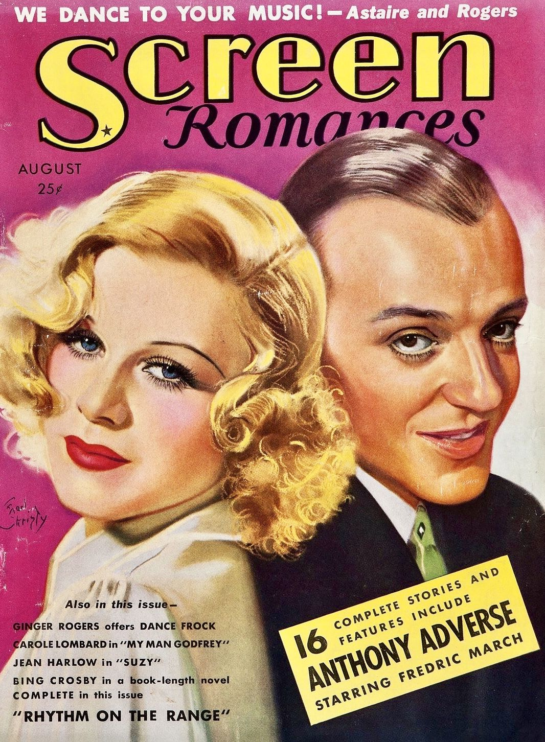 Ginger Rogers And Fred Astaire Screen Romances Del 1936 Magazine Ginger Rogers Fred Astaire Fred And Ginger
