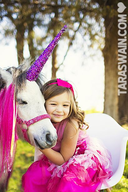 A princess with her unicorn!