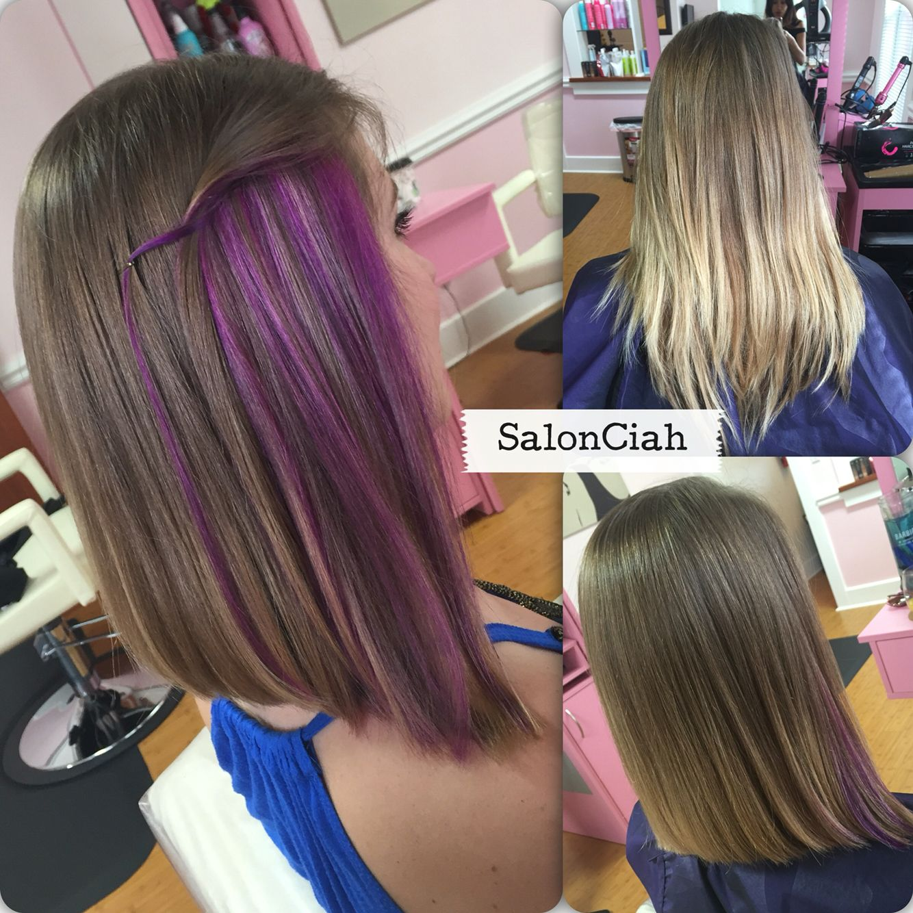 Purple Peekaboos Peekaboo Hair Peekaboo Hair Colors Purple Highlights Brown Hair