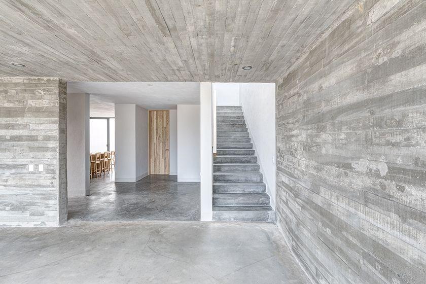 Casas cuatas escaleras de concreto pulido casas cuatas for Piso cemento pulido
