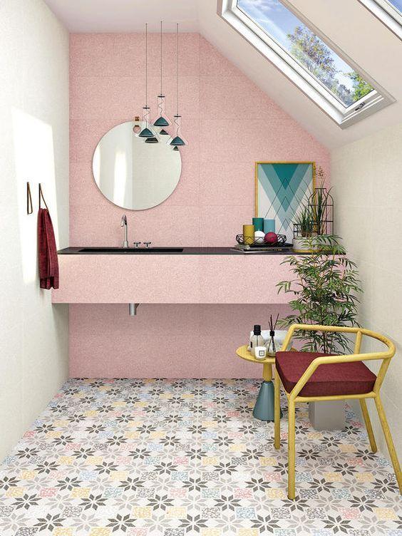 Te atreverías con un baño rosa? 21 Baños de color rosa que te van a ...