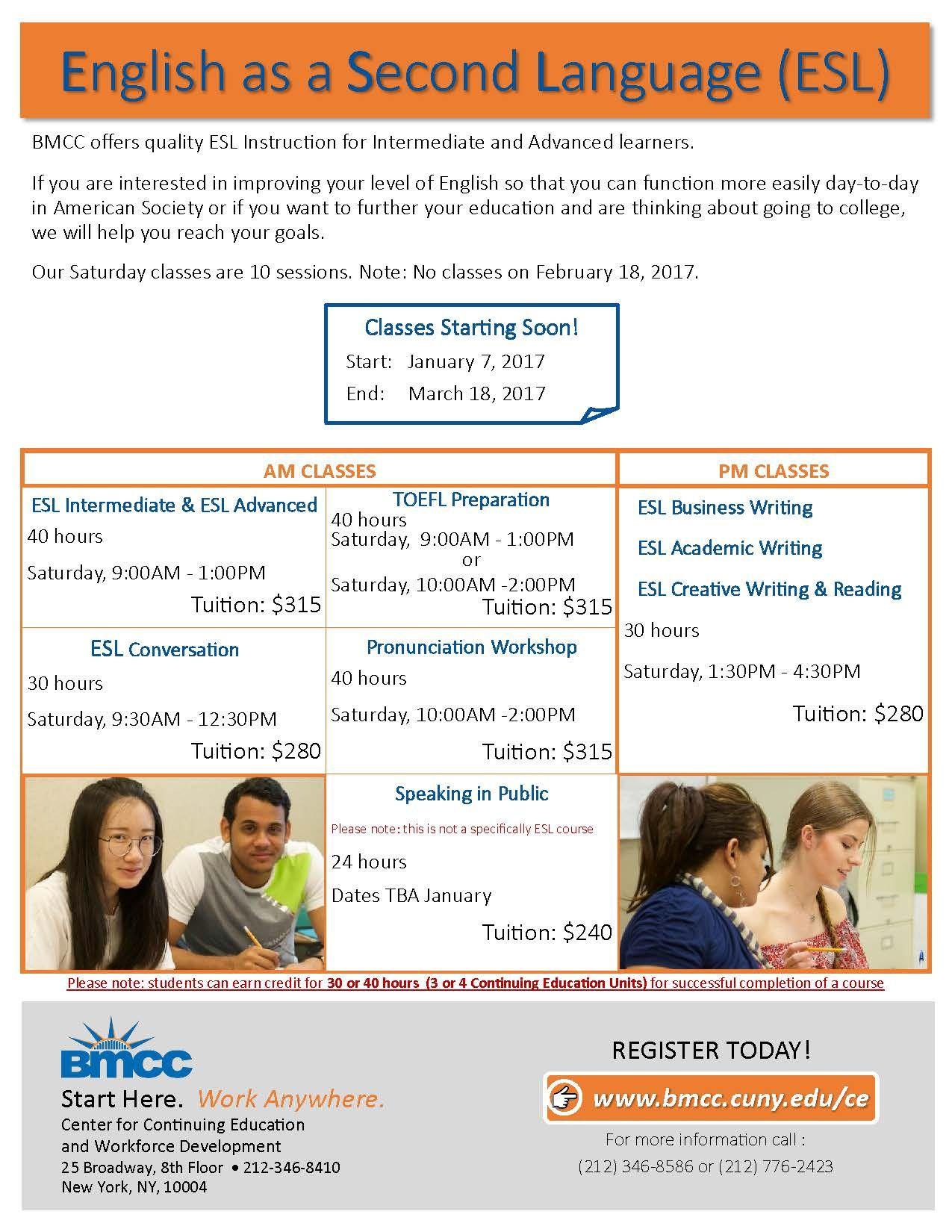 ESL Classes! Register Here --> Http://www.campusce.net