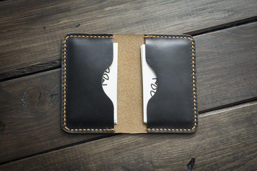 Black Leather Business Card Holder   Pinterest   Business card ...