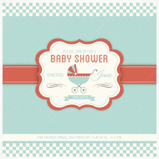 Baby Shower Invitation Backgrounds Free Pleasing Psd File Download  Photoshop  Pinterest  Invitation Templates .