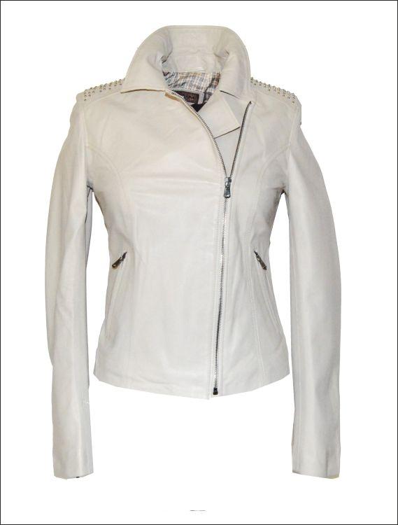 Γυναικείο δερμάτινο μπουφάν με χρυσές μεταλλικές λεπτομέρειες Μοντέλο   Perfecto Leather Jacket SL-24 Δέρμα 46b49762aaa