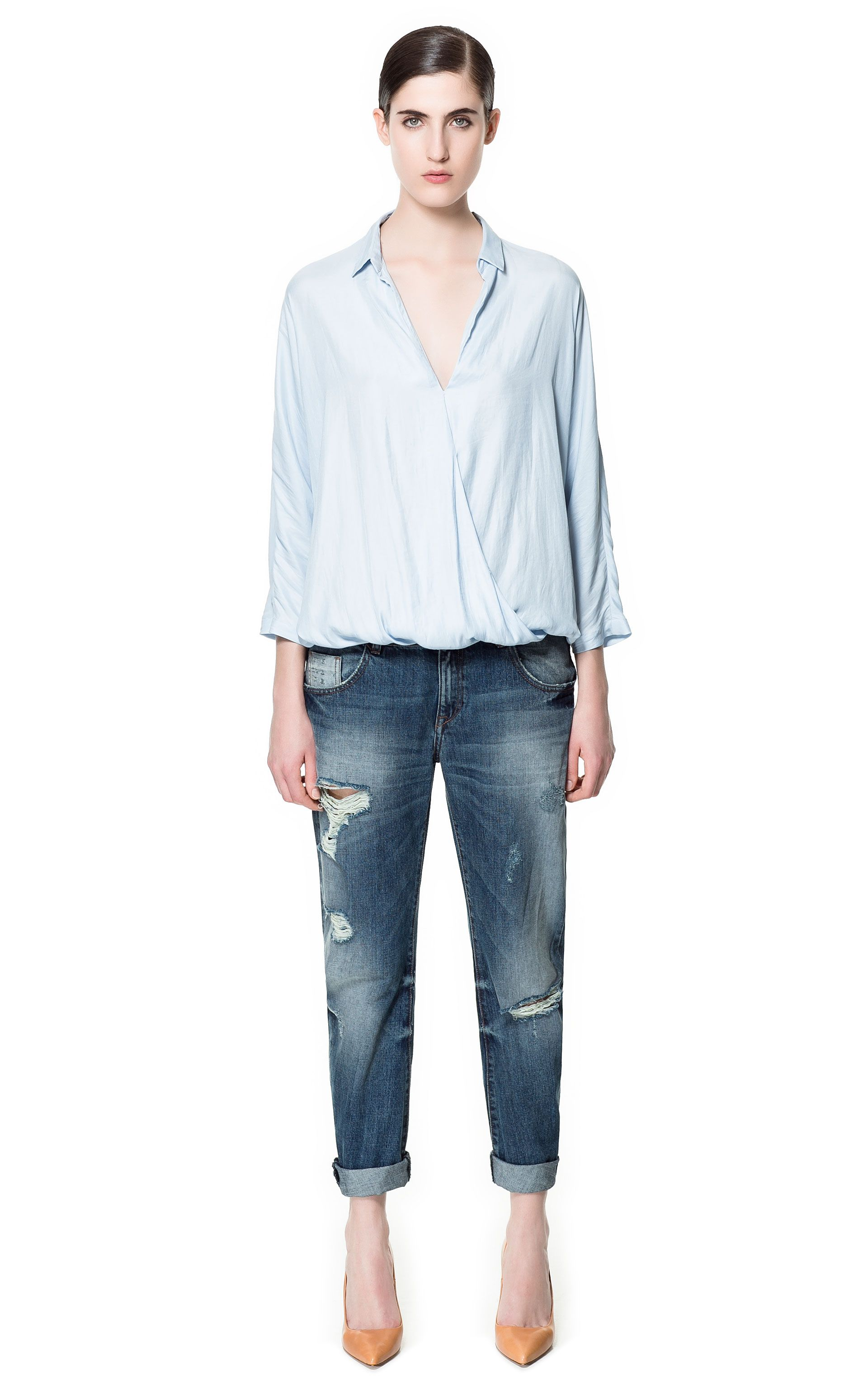 DENIM SLIM BOYFRIEND - Jeans - Femme - ZARA France    0213   Women s ... b07cc9645acf