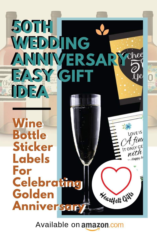 Wine bottle sticker labels for celebrating a golden