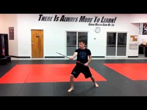 Segment 3 - Mid-Range Jahng Bong (ATA Bo Staff) Training - YouTube