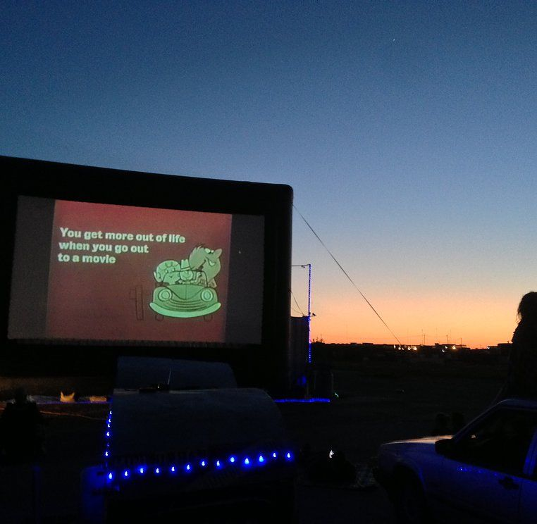 The Worlds First And Only Mini Urban Drive In Movie Theater