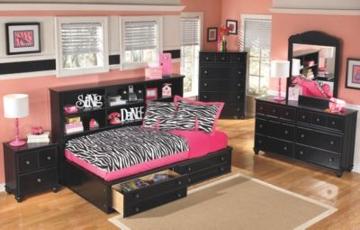 Jaidyn Twin Bookcase Bed By Ashley Homestore Black In 2019 Bookcase Bed Bookcase Storage