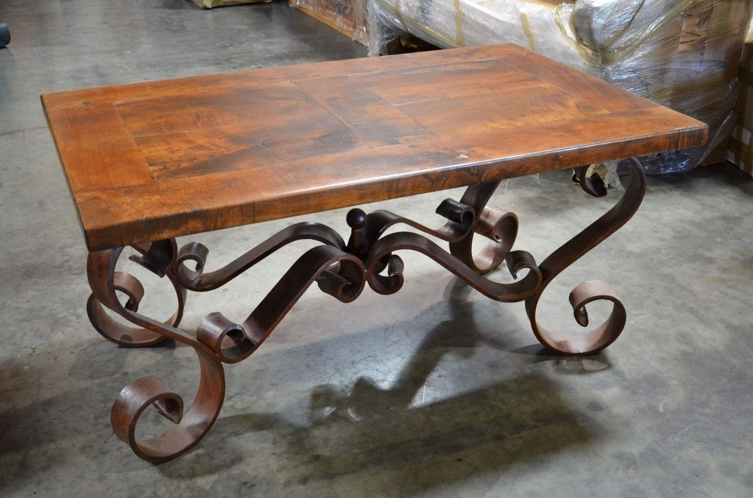 - Iron Base Wood Top Coffee Table - Best Interior Paint Brands Check