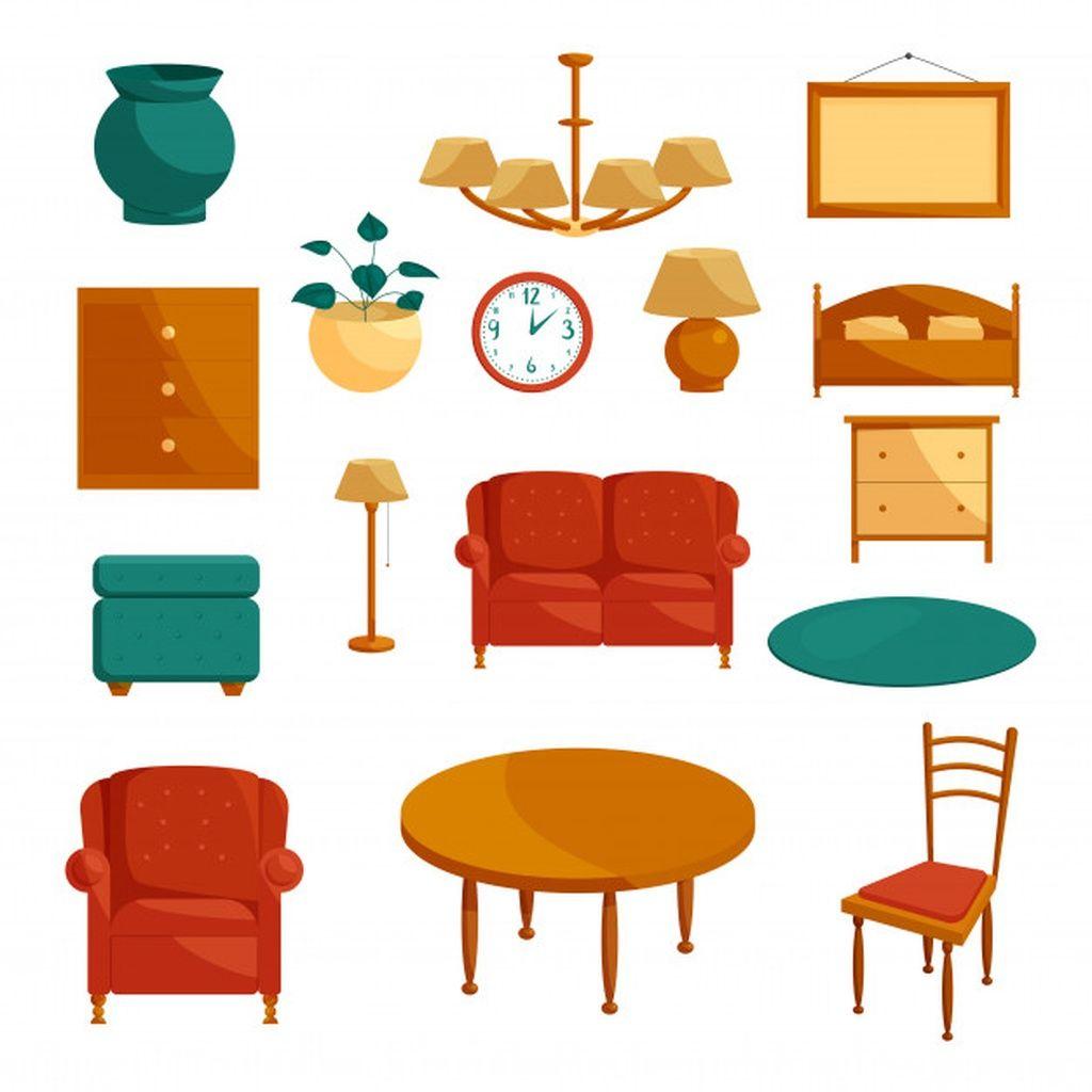 Furniture Icons Set Cartoon Style Paid Ad Paid Icons Style Cartoon Furniture Cartoon Styles Objects Design Icon Set