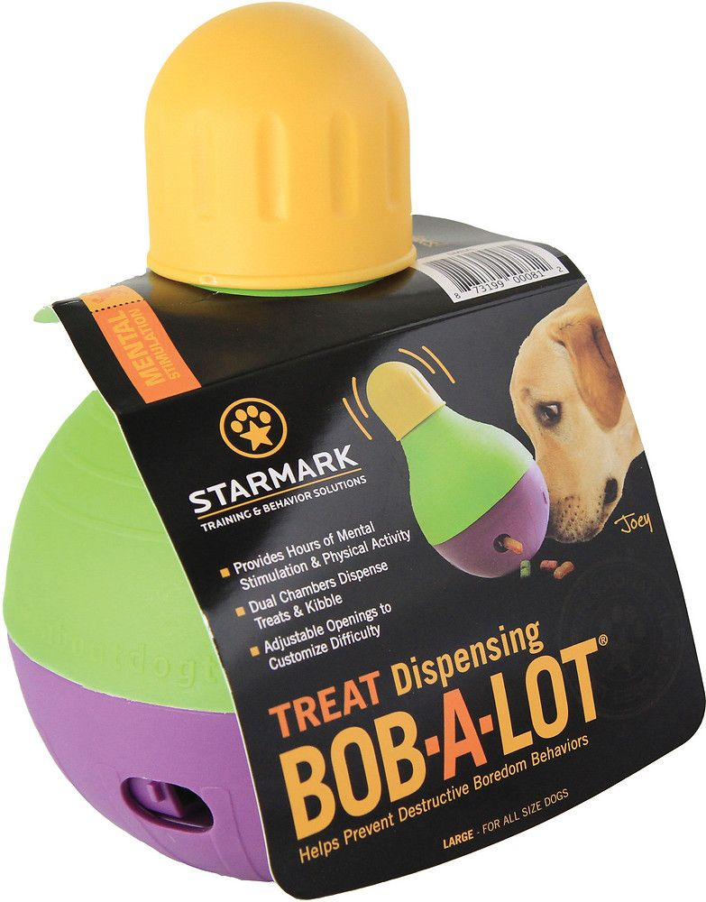 Starmark Treat Dispensing Bob A Lot Dog Toy Large 9 5 Brody