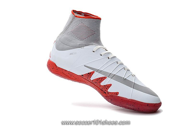 Nike Mens Hypervenom Phantom II Indoor NJR�JORDAN IC Football Boots Soccer  Cleats White Red
