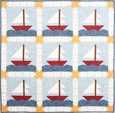I found a couple of sailboat quilt patterns I like for the boys ... : sailboat quilt pattern - Adamdwight.com