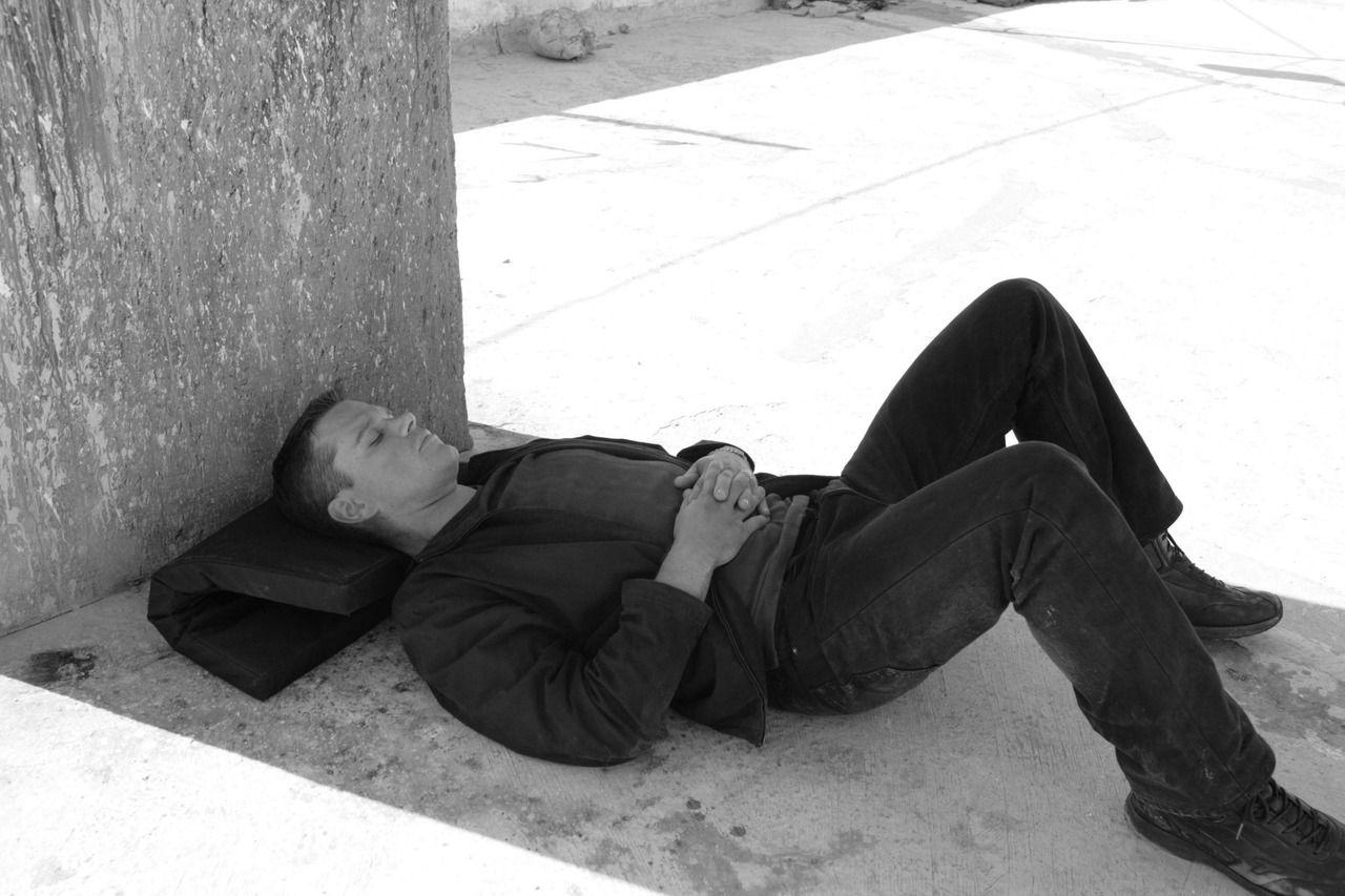 Matt Damon on the set of The Bourne Ultimatum (2006) # ...