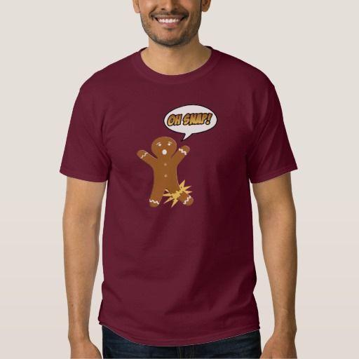 Oh Snap! Funny Christmas Gingerbread Man t shirt